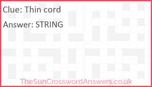 Thin cord Answer