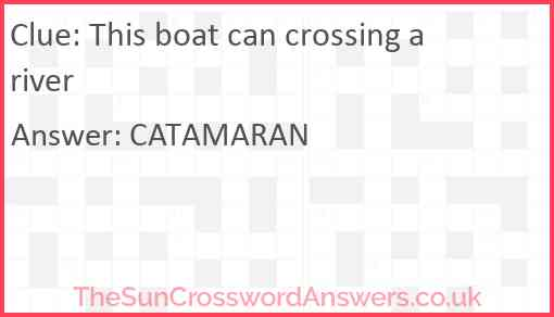 This boat can crossing a river Answer