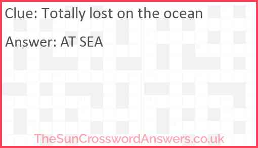 Totally lost on the ocean Answer