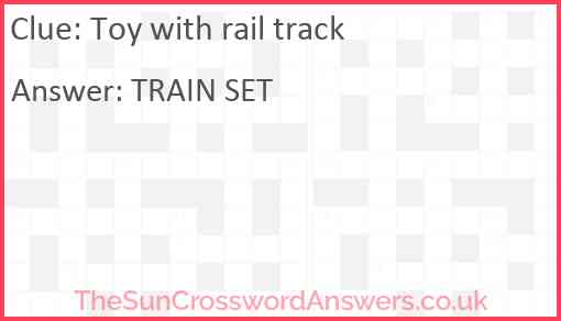 Toy with rail track Answer