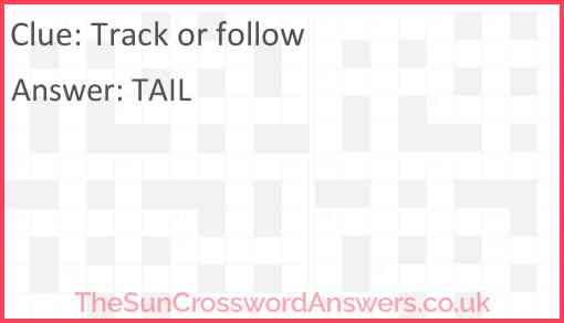 Track or follow Answer