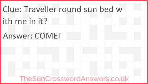 Traveller round sun bed with me in it? Answer