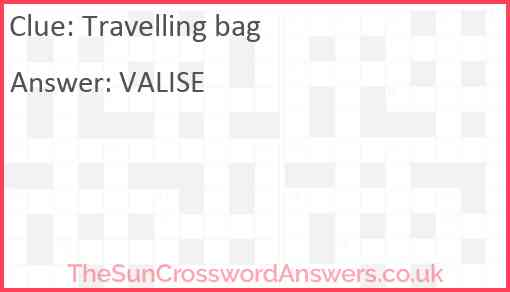 Travelling bag Answer