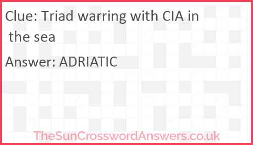 Triad warring with CIA in the sea Answer