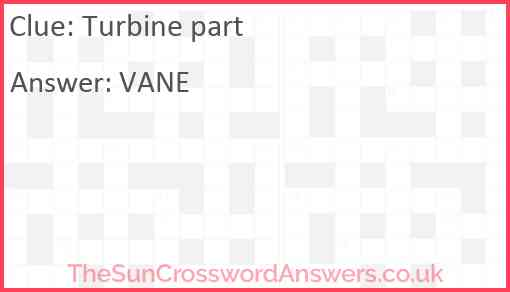 Turbine part Answer