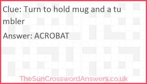 Turn to hold mug and a tumbler Answer