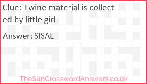 Twine material is collected by little girl Answer