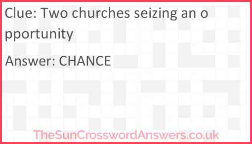 Two churches seizing an opportunity Answer