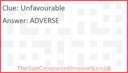 Unfavourable Answer