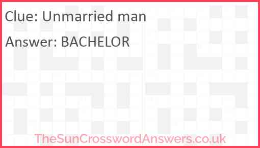 Unmarried man Answer