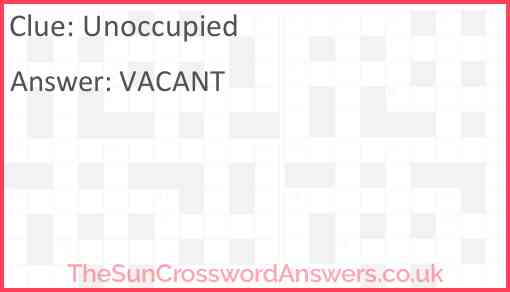 Unoccupied Answer
