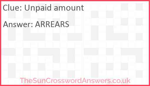 Unpaid amount Answer