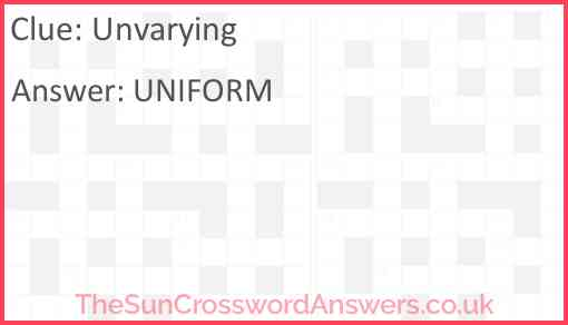 Unvarying Answer