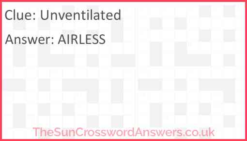 Unventilated Answer