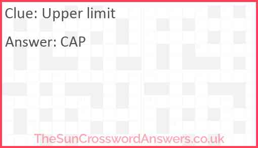 Upper limit Answer