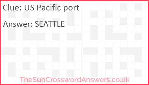 US Pacific port Answer