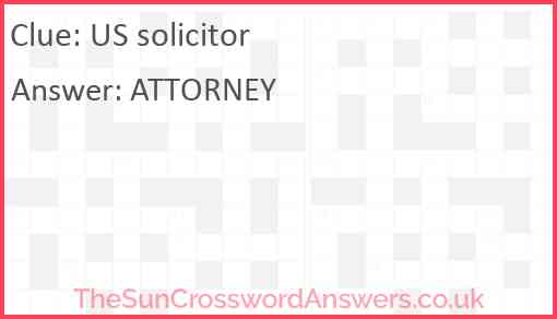 US solicitor Answer