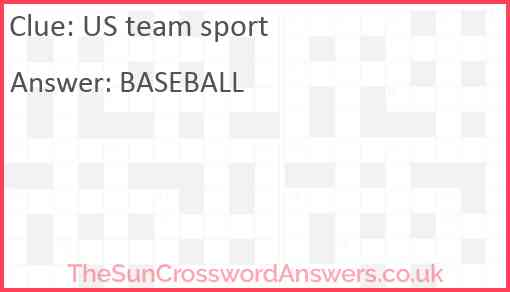 US team sport Answer