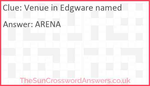 Venue in Edgware named Answer