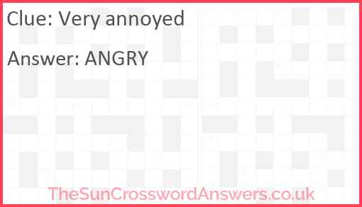 Very annoyed Answer
