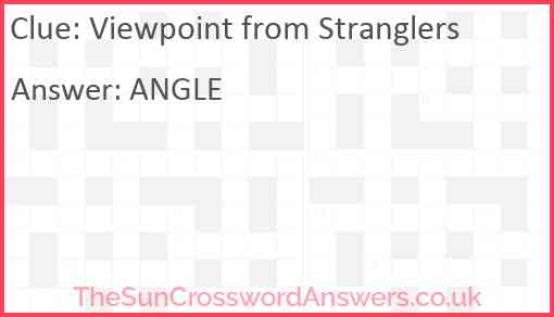 Viewpoint from Stranglers Answer