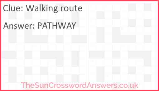 Walking route Answer
