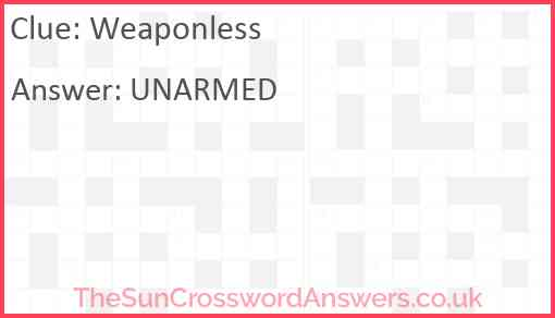Weaponless Answer