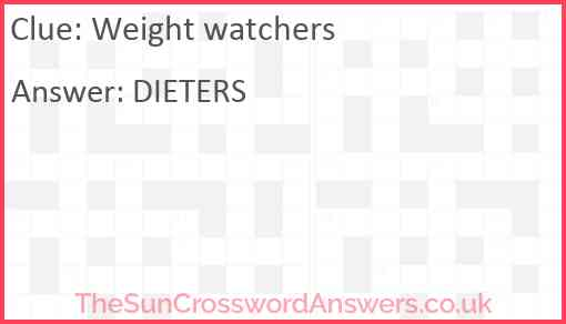 Weight watchers Answer