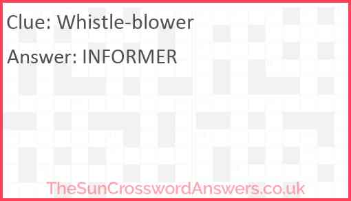 Whistle-blower Answer