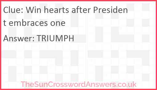 Win hearts after President embraces one Answer