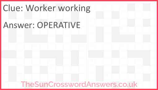 Worker working Answer