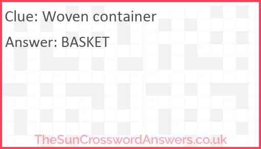 Woven container Answer