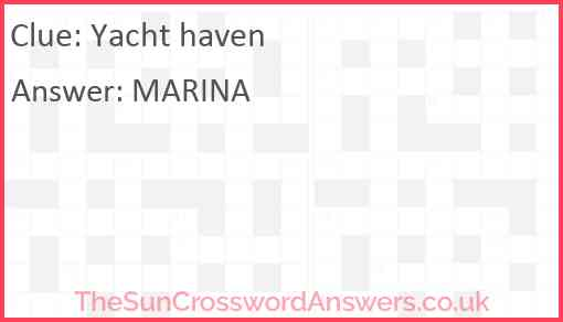 Yacht haven Answer