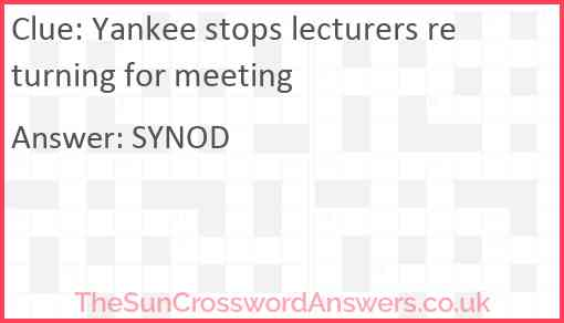 Yankee stops lecturers returning for meeting Answer