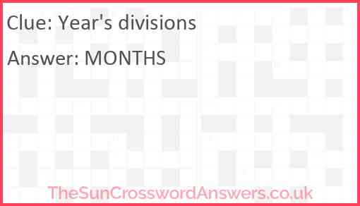 Year's divisions Answer