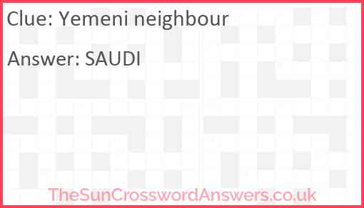 Yemeni neighbour Answer